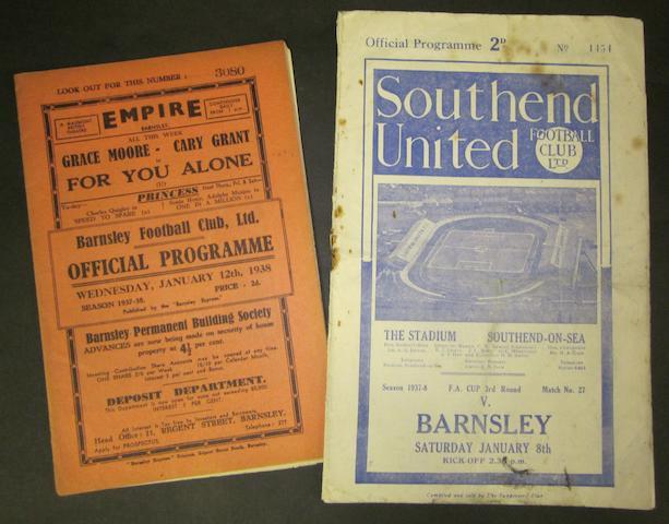 1937/38 Barnsley programmes