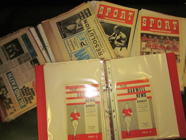 A collection of Barnsley football club ephemera