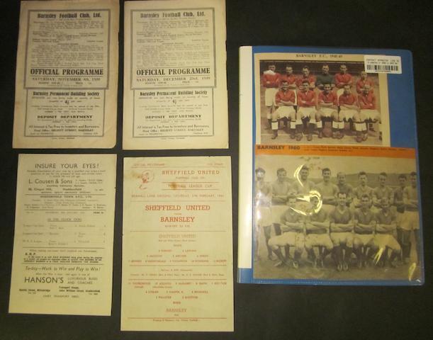 1939 to 1943 Barnsley programmes