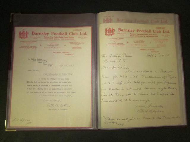 A collection of Barnsley football club letters