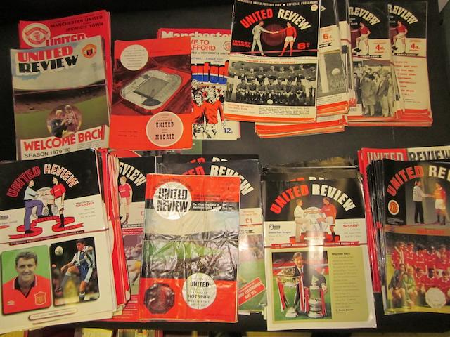 Early 1960's onwards Manchester United programmes