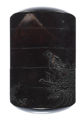 Two lacquer inro One by Yamada Jokasai, 19th century