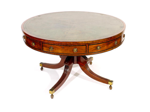 A George IV/William IV mahogany drum table