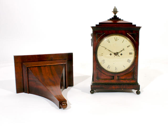 An early 19th century mahogany bracket clock Indistinctly signed,