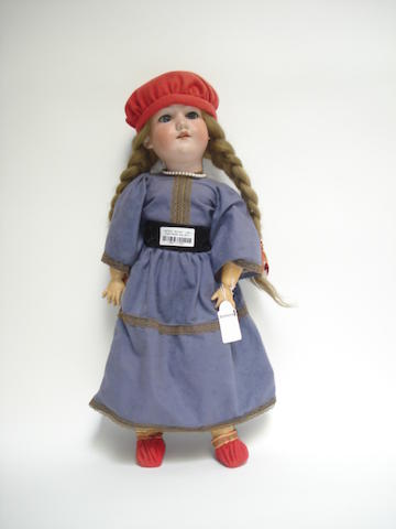 A.M 390 bisque head doll