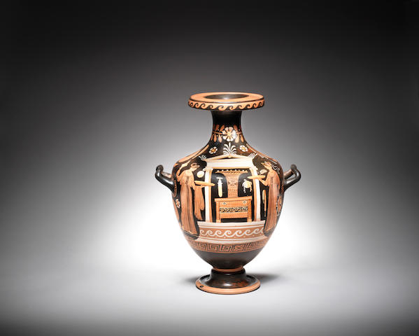 An Apulian red figure hydria *confirm painter*