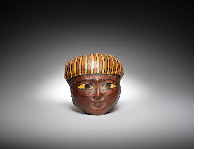 An Egyptian cartonnage mask