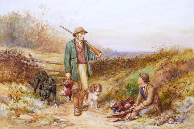 James Hardy Jnr. (British, 1832-1889) Return from the shoot