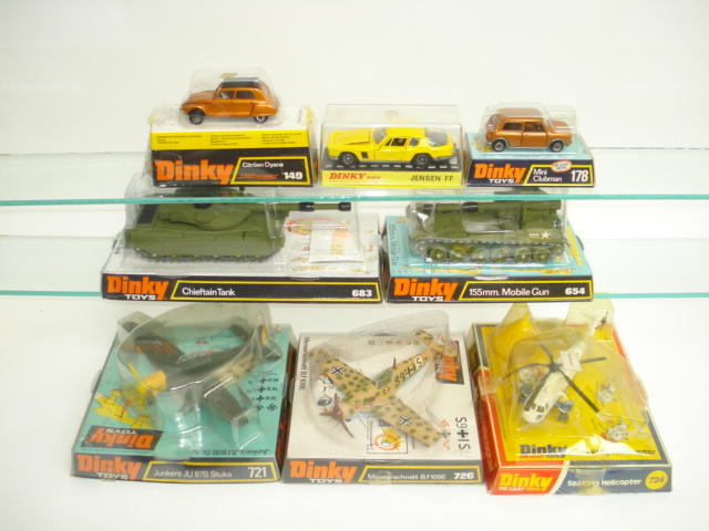 Dinky planes, tanks and cars 8