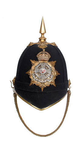 The Border regiment, Officer's Blue Cloth Helmet c1902-1914
