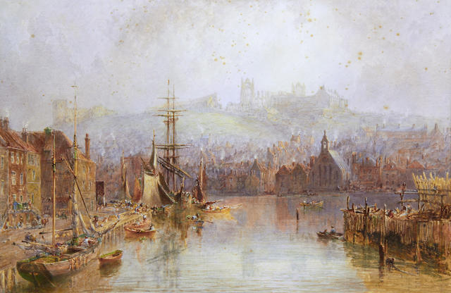 George Weatherill (British, 1810-1890) View of Whitby