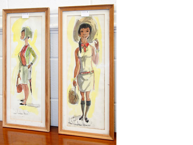 Ken Abendana Spencer (Jamaican 1929-2005) Five caricatures