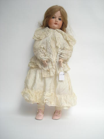 Large A.M bisque head doll