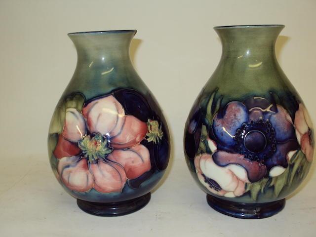 Two Walter Moorcroft vases  Circa 1950