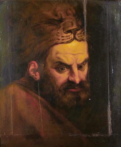 Studio of Frans Floris the Elder (Flemish, born circa 1519-1570) Heracles wearing the pelt of the Nieman lion