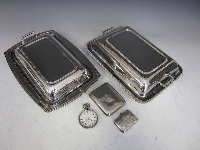 A silver cigarette case Birmingham 1912  (5)