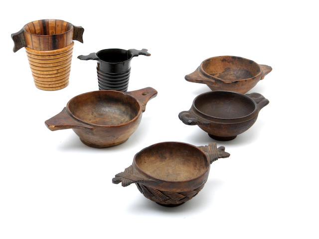 A small collection of 18th and 19th century Scottish treen