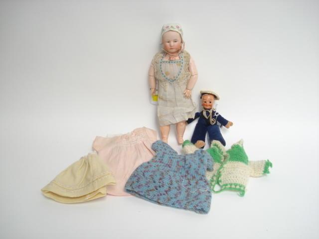 Gebruder Heubach 'Baby Stuart' bisque head doll 2