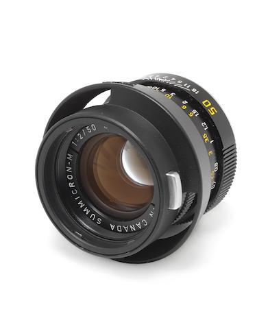 Leica 50mm f2 Summicron lens,