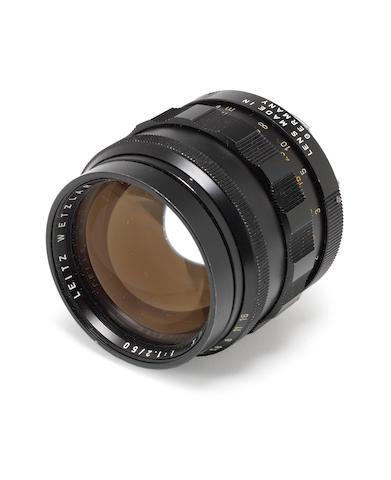 Leica 50mm f1.2 Noctilux lens,