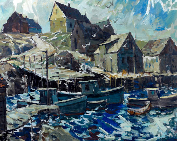 Clare Bice (Canadian, 1909-1976) 'Breezy Weather, Indian Harbour'