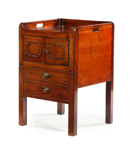 George III mahogany night cupboard