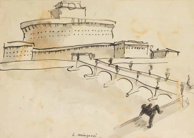 Luciano Minguzzi (Italian, 1911-2004) Castel Sant' Angelo, Rome