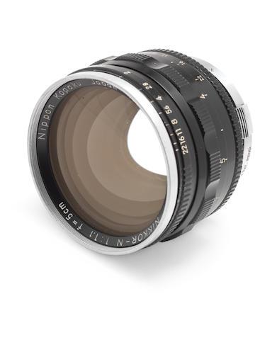 Nikkor 50mm f1.1 lens for Nikon rangefinder cameras,