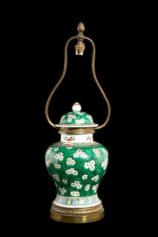 Famille verte lamp