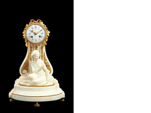 Marble and ormolu clock