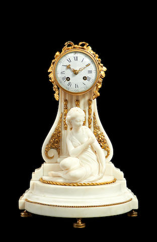 Marble and ormolu clock