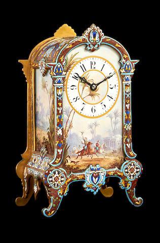 Arab champleve clock