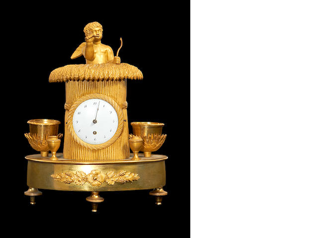 An Empire clock/inkstand