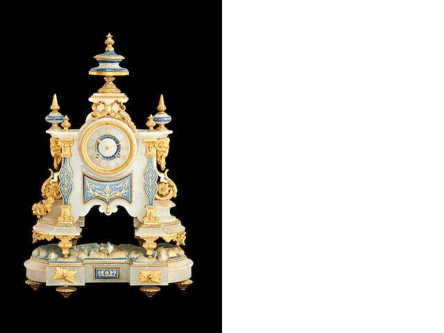 Alabaster clock