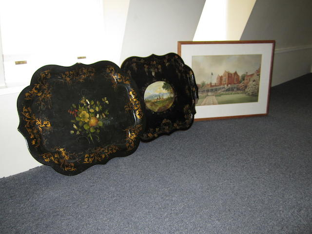 A 19th century shaped lacquered tray