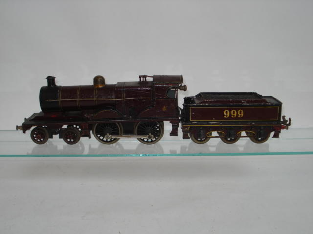 Bassett-Lowke MR 4-4-0 Express locomotive and tender No.999