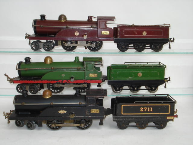 Hornby Series three No.2 4-4-0 locomotives and tender 3