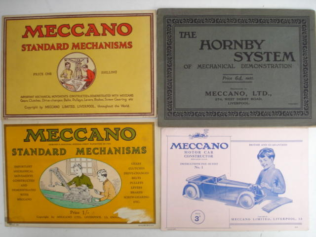 Meccano instructions and leaflets 3 boxes