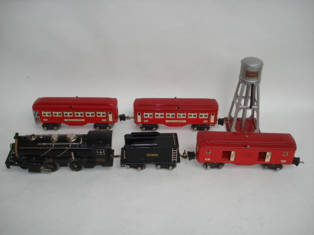 Lionel Trains 262E 2-4-2 locomotive and tender lot