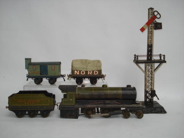 Bowman live steam locomotive and Hornby wagons lot