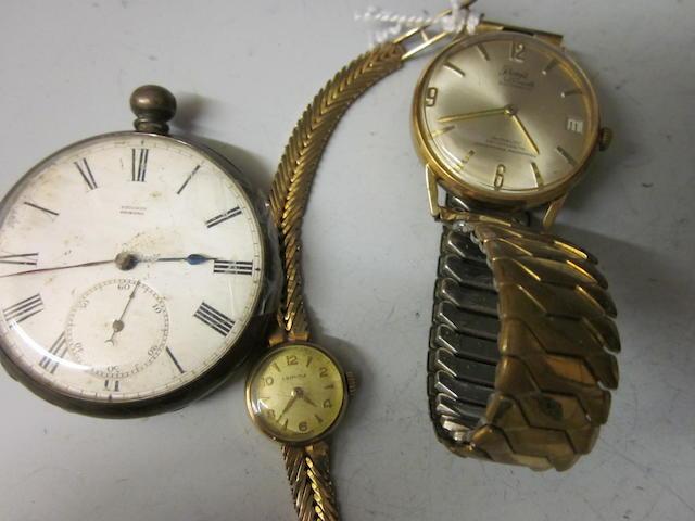 Certina: A 9 carat gold lady's bracelet watch, (3)
