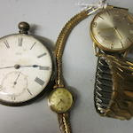 Certina: A 9 carat gold lady's bracelet watch, (3)