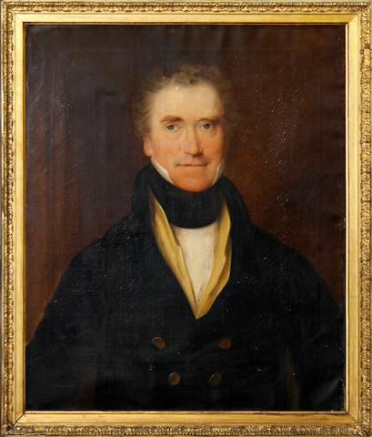 Follower of Sir Thomas Lawrence, pair portraits, Joseph Hampton & Rynes Hampton, oil on canvas, 75cm x 62cm (2)