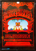 After Rick Griffin, four psychadelic posters celebrating the alternative culture of the 1960's/70's, published 1976, distributed by Alcock & Dicks 73cm x 50cm (4)