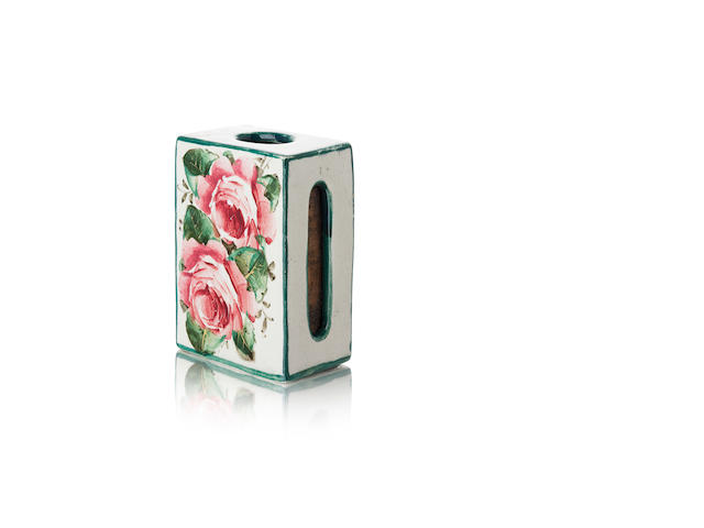 A Wemyss matchbox case 'Cabbage Roses'
