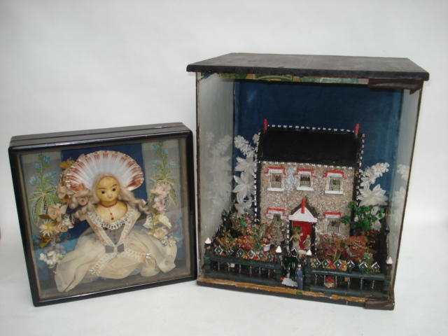 Model house and gardens in glazed case 2