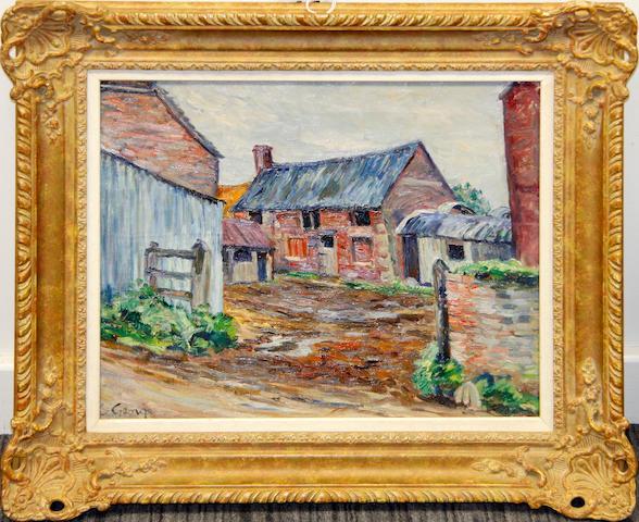Charles Genge (British, 1874-1958) Farmyard Entrance
