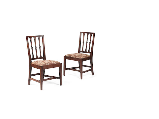A set of six George III Scots laburnum dining chairs late 18th century, Perthshire