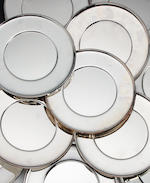 A German silver set of twelve dinner plates by Koch and Bergfeld, Bremen, recent, .925 standard   (12)