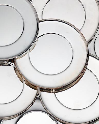 A German silver set of twelve dinner plates by Koch and Bergfeld, Bremen, recent, .925 standard   (12)